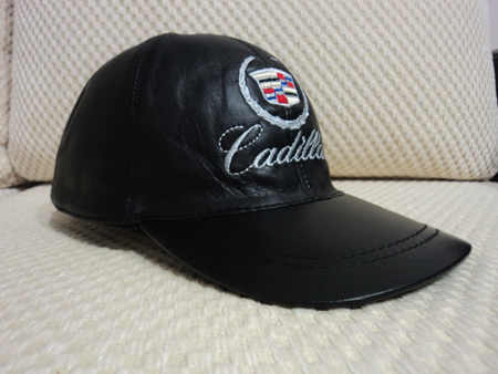Cadillac Leather Black Baseball Hat Cap [BUY 1 GET 1 FREE]