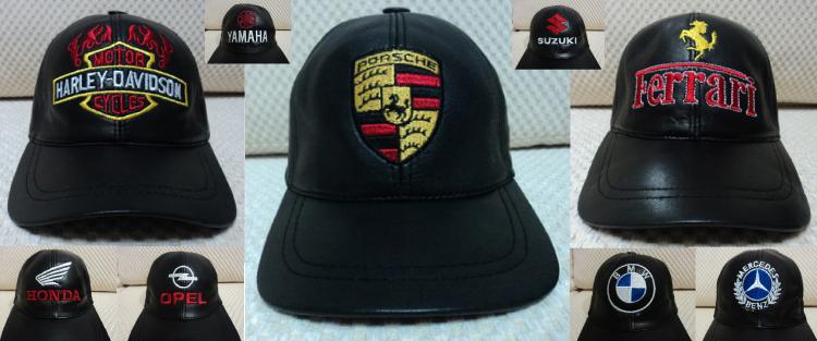 ee793c61a61 Leather Hats   Caps   Buy 1 Get 1 Free   Porsche Ferrari Harley Davidson .