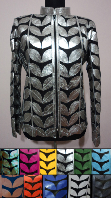 Plus Size Leather Leaf Jackets for Women [ Click to See Available Colors ]