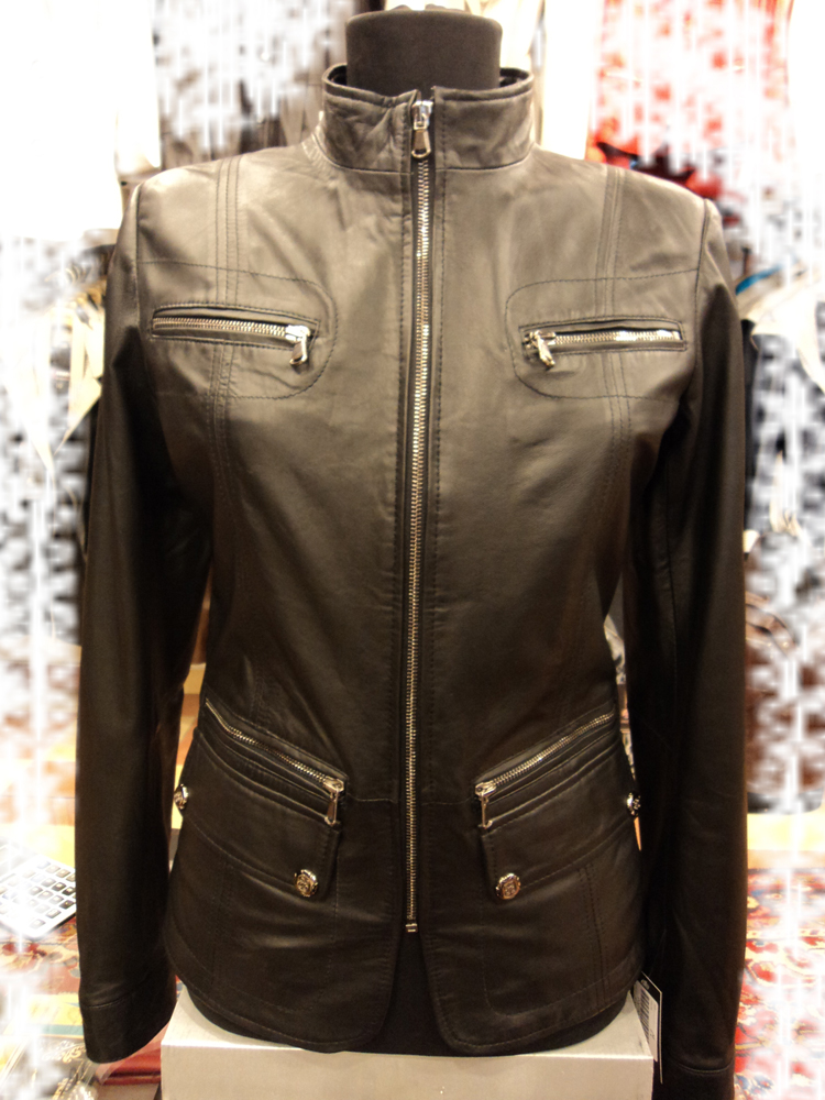 Womens Black Leather Jacket